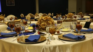 luncheon table set