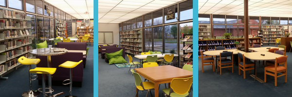 Images of the Chickasha Public Library new teen area and mobile patrons spaces