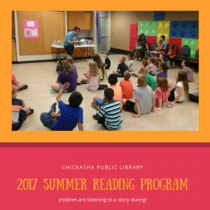 Children listening to a story at Summer Reading!