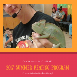 Extreme Animals visit the Library for Summer Reading.