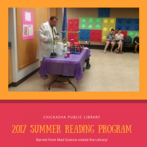Barrett from Mad Science visited the Library!