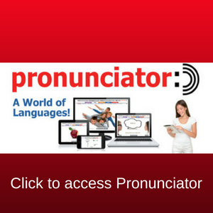 Pronunciator a world of languages available to learn all you need is a library card.