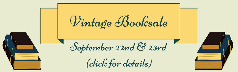 Vintage Book Sale