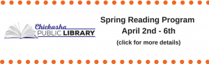 Spring Reading Program April 2nd – 6th