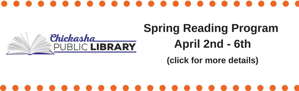 Spring Reading Program April 2nd – 6th
