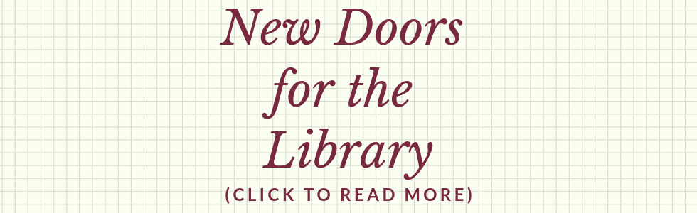 New Doors for the Library!