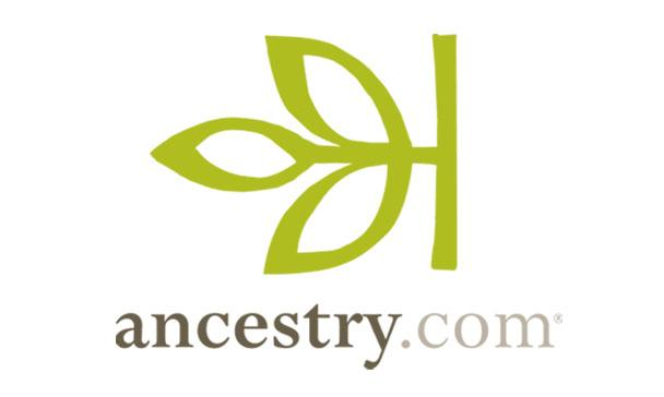 Image of the ancestry.com logo, which links to the Ancestry Library Edition.