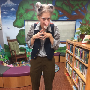 Count Olaf visits the Library during Books Come Alive 2018
