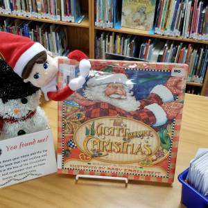 Chickasha Public Library has a special visitor every December Elf on the Shelf visits the Library to read.