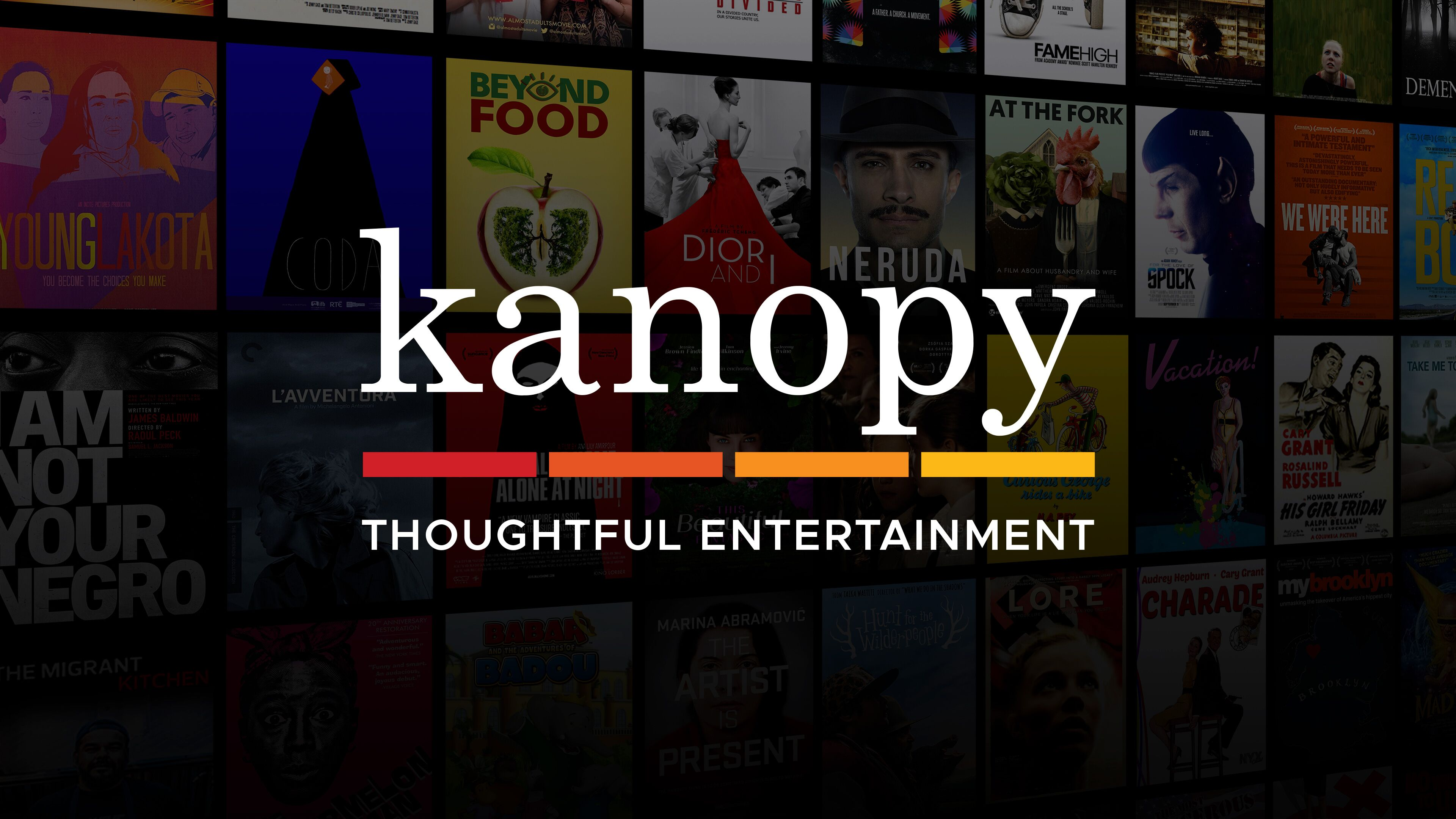 Kanopy. The world's finest cinema now streaming free with your Library card. For more information call 405-222-6075