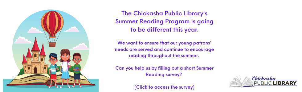 Click to take the summer reading survey