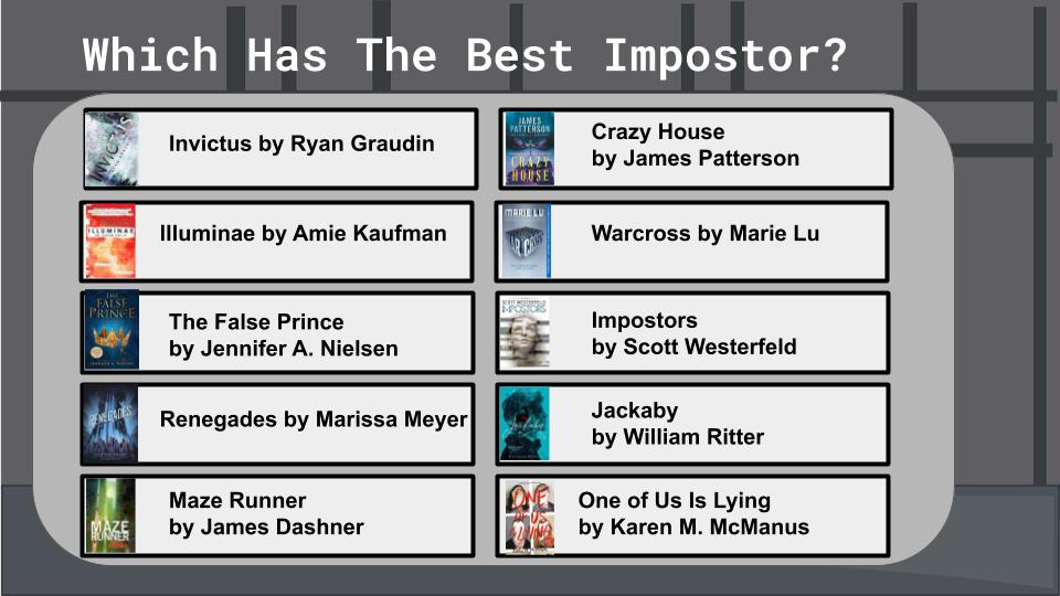 Which has the best Impostor Book List
