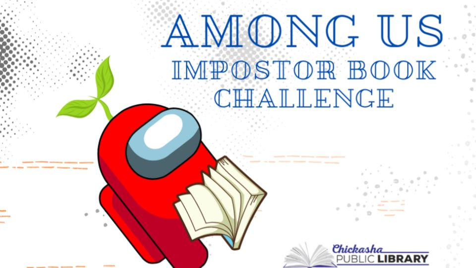 Among Impostor Book Challenge character reads a book