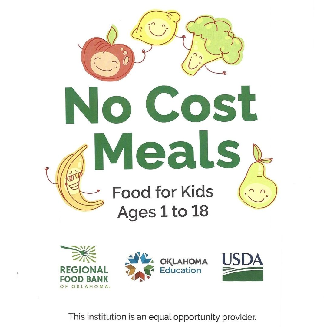 no cost meals for children 1- 18.