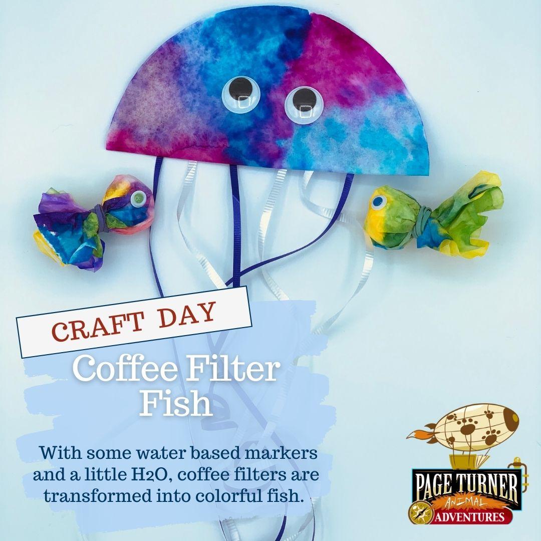Mash up day coffee filter fish craft